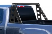 Image may not reflect your exact vehicle! Go Rhino® - Xtreme Rack™ Lightning Series Textured Black Mild Steel Sport Bar