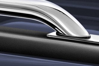 Image may not reflect your exact vehicle! Go Rhino® - Chrome Mild Steel Stake Pocket Bed Rails