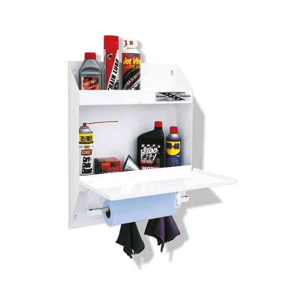 Go Rhino® - White Lockable Organizer with Storage Shelf
