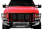 Image may not reflect your exact vehicle! Go Rhino® - Wrangler Black Grille Guard Installed