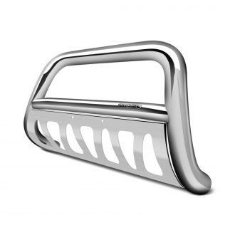 Image may not reflect your exact vehicle! Go Rhino® - 3 Rhino Charger RC2 Polished Stainless Steel Bull Bar with Brackets