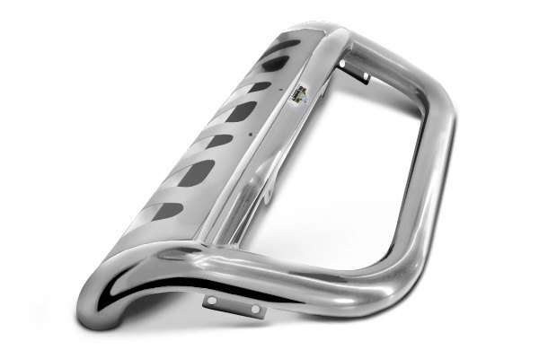 "Go Rhino® - 2.5"" Rhino Charger RC2 Standard Polished Stainless Steel Front Bar with Brackets"