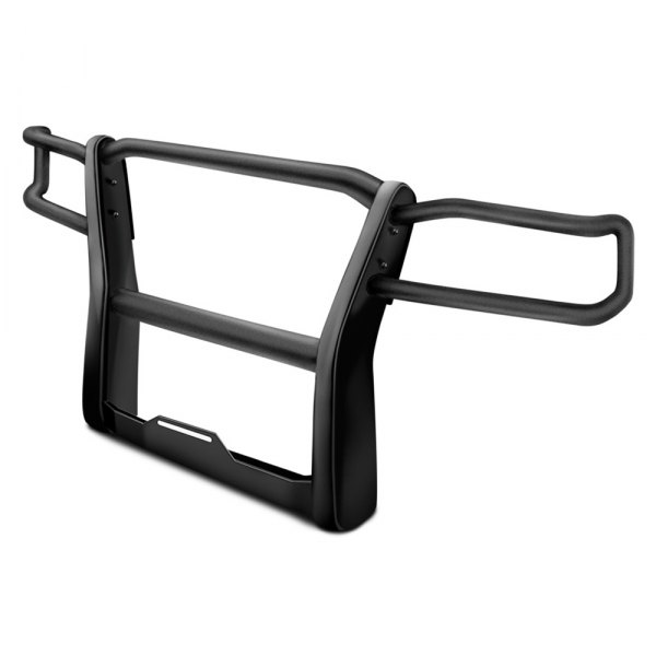 Image may not reflect your exact vehicle! Go Rhino® - Black Winch Mount with Brush Guard