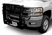 Image may not reflect your exact vehicle! Go Rhino® - Wrangler Black Mild Steel Grille Guard