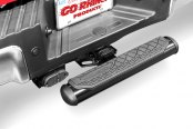 Image may not reflect your exact vehicle! Go Rhino® - Oval Black Hitch Step Installed