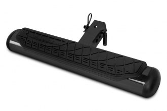 "Go Rhino® 460B - 4"" Oval Black Mild Steel Hitch Step"