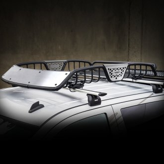 "Go Rhino® - 48"" SR10 Series Roof Rack with Brushed Stainless Fairings"