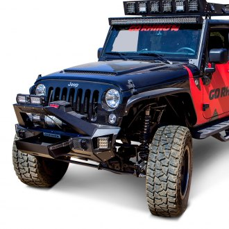 Go Rhino® - BRJ40 Front Modular Winch Bumper with End Caps and Light Mount Bar