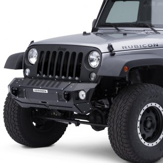 Go Rhino® - BRJ40 Stubby Black Front Winch Modular Bumper with End Caps