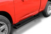 "Go Rhino® - 6"" OE Xtreme Oval Cab Length Black Mild Steel Side Steps with Brackets"