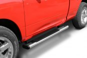 "Go Rhino® - 6"" OE Xtreme Oval Cab Length Polished Stainless Steel Side Steps with Brackets"