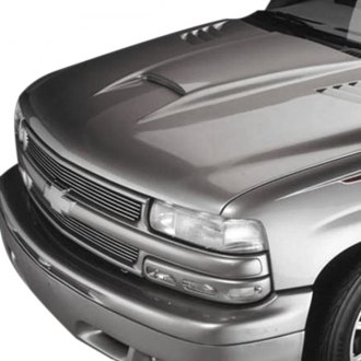 Good Hood® - IROC-style Single Scoop Ram Air Hood with Heat Extractor Vents (Unpainted)