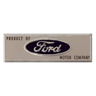 "Goodmark® - ""Product of Ford Motor Company"" Black Door Sill Plate Emblem"