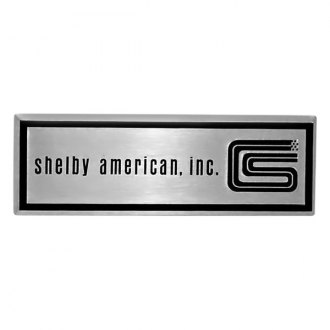 "Goodmark® - ""Shelby American, inc."" Black and Silver Door Sill Plate Emblems"