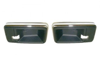 Goodmark® - Inner Black and Chrome Door Handle Cups