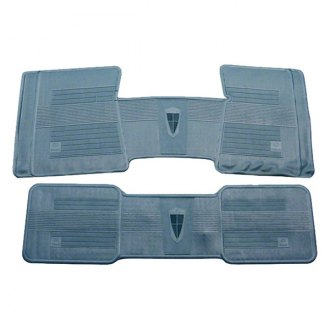 Goodmark® - Medium Blue Rubber Floor Mat Set
