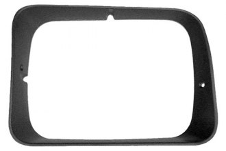 Goodmark® - Silver, Gray Headlight Bezel