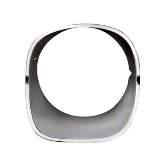 Goodmark® - Front Driver Side Argent Silver Headlight Bezel