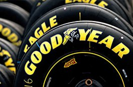 GOODYEAR® - Tires in Factory with Yellow Labels