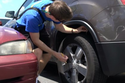 GOODYEAR® Kevin Harvick Conduct Surprise Tread Depth Checks (Full HD)
