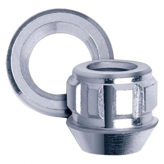 Gorilla® - Chrome Cone Seat Acorn Open End Wheel Lock with Adapter Washers