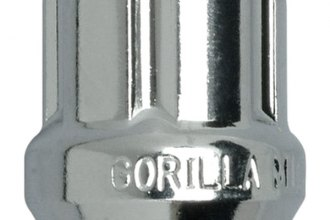 12mm X 1.50 Thread Size Gorilla Automotive 20033SD Acorn Open End Chrome Small Diameter Lugs