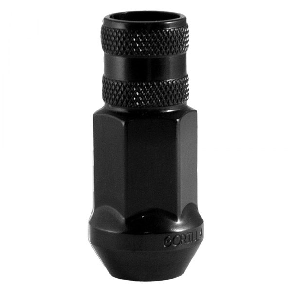 Gorilla Automotive® - Black Chrome Forged Steel Racing Open End Cone Seat Lug Nut