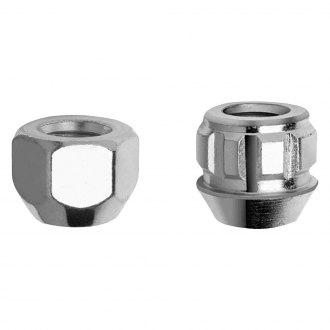 Gorilla Automotive® - Chrome Cone Seat Acorn Open End Lug Nut and Lock System With M12 x 1.50 Thread