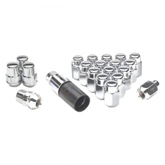Gorilla Automotive® - Chrome Cone Seat Acorn Lug Nut and Lock System