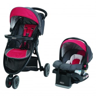 Graco Baby® - FastAction™ Chili Red Style Fold Sport LX Click Connect Travel System