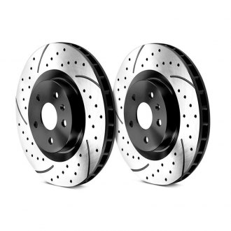 Granatelli Motor Sports® - Dimpled and Slotted 1-Piece Brake Rotors