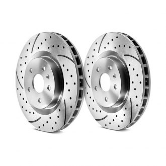 Granatelli Motor Sports® - Dimpled and Slotted Brake Rotors