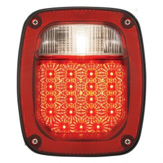 Grand General® - Chrome/Red Combo Spyder LED Tail Light