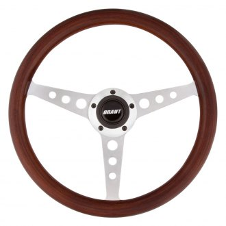 Grant® - 3-Spoke Hole Style Wood Steering Wheel