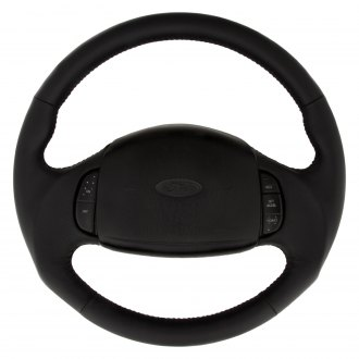 Grant® - 2-Spoke Leather Wrapped Airbag Replacement Steering Wheel
