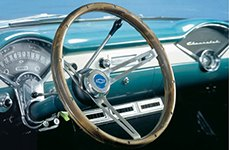 Grant® Wood Clasic Style Steering Wheel for Chevy