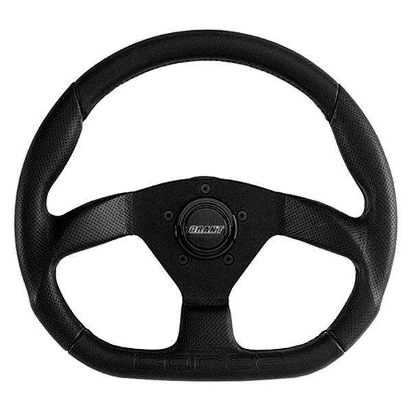 Grant® - 3-Spoke Black Design Corsa GT Style Steering Wheel with Black  Perforated Leather