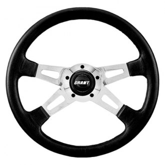 Grant® - 4-Spoke Polished Aluminum Design Collectors Edition Steering Wheel