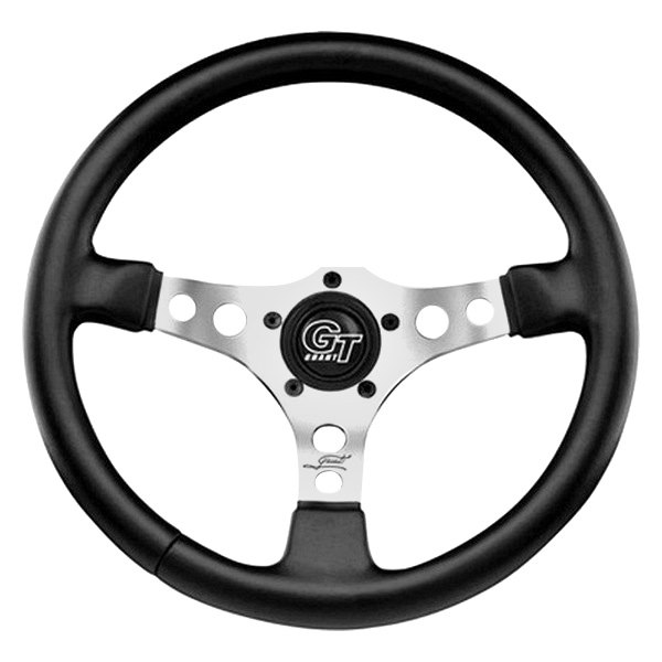 Grant® - 3-Spoke Formula GT Series Steering Wheel with Black Hand Stiched Leather Grained Vinyl Grip