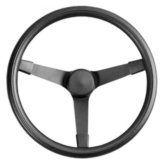 Grant® - 3-Spoke Black Powder Coat Steel Design Performance Series Steering Wheel with Black Cushioned Foam Grip