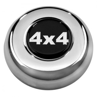 Grant® - Cast Classic / Challenger Style Chrome Horn Button with 4x4 Emblem