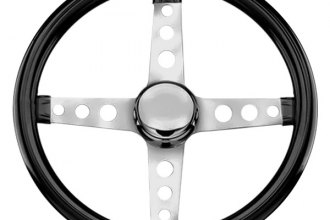 Grant® - 4-Spoke Chrome CRS Steel Design Classic Cruisn' Series Steering Wheel with Black High Gloss Vinyl Grip