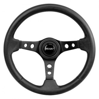 Grant® - 3-Spoke Aluminum Black Anodized with Black Carbon Fiber Design Performance and Race Series Steering Wheel with Black Carbon Fiber Grip