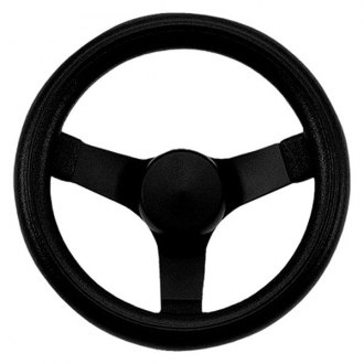 Grant® - 3-Spoke Black Powder Coated Steel Design Performance Series Steering Wheel with Black Cushioned Foam Grip