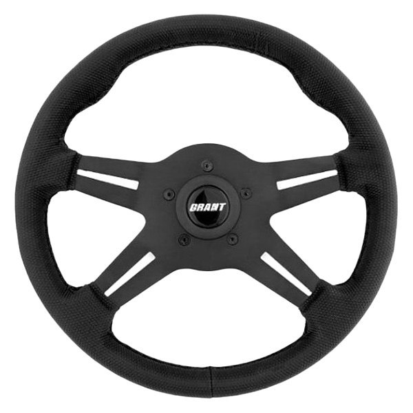 Grant® - 4-Spoke Gripper Series Steering Wheel with Black Vinyl Grip