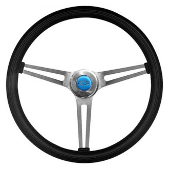 Grant® - 3-Spoke Brushed Stainless Steel Design Classic Nostalgia GM Series Steering Wheel with Black Cushioned Foam Grip