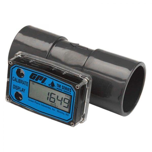 Electronic Water Flow Meter : Gpi tm turbine digital water flow meter
