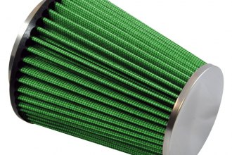 GREEN FILTER® 2024 - Cone Air Filter with SS End Cap and Straight Inlet (3.50 F x 6.50 H x 5.54 B x 4 D)