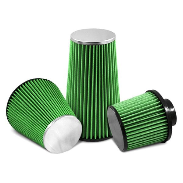 Image may not reflect your exact vehicle! GREEN FILTER® - Cone Air Filter