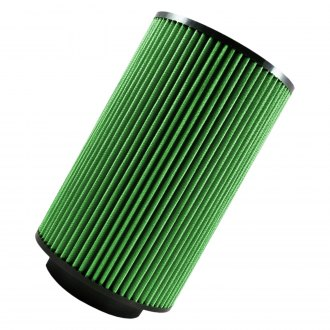 Green Filter® - Round Straight Green Air Filter with Rubber End Cap and Straight Inlet